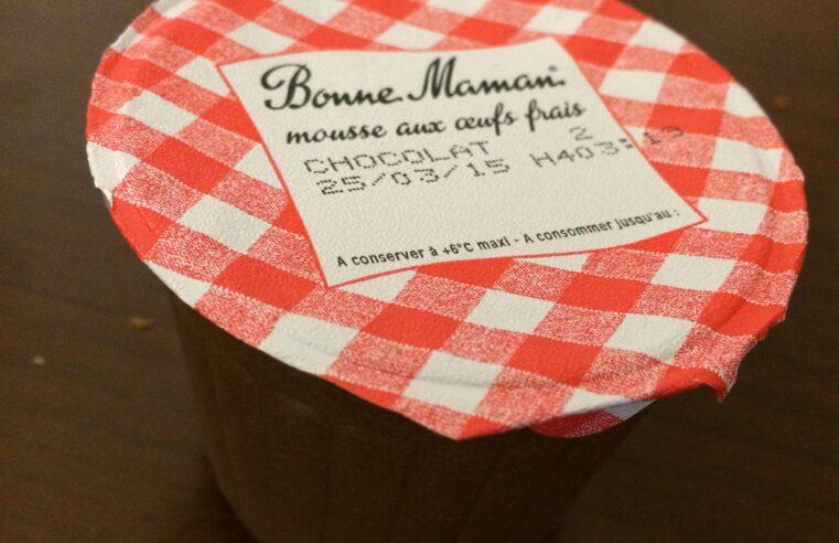J'ai testé pour vous la mousse au chocolat BONNE MAMAN