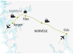 Parcours Norvege Oslo Bergen Train