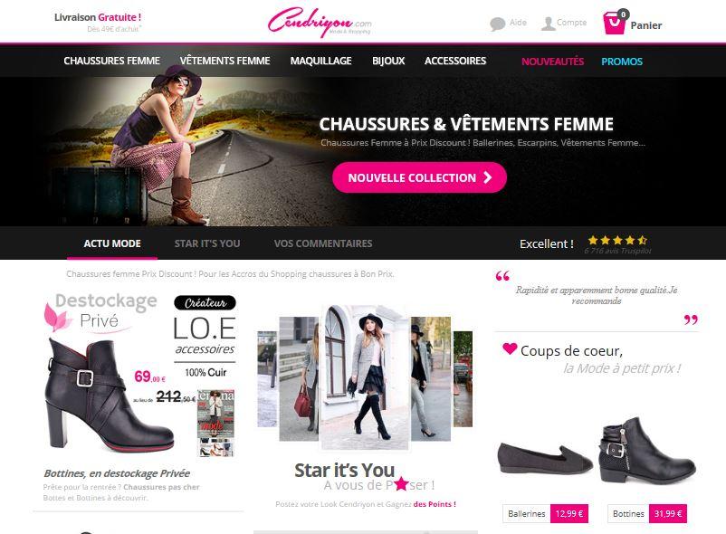 e1aaebe10218f CENDRIYON, l'e-shop de chaussures pour femmes à petits budgets !