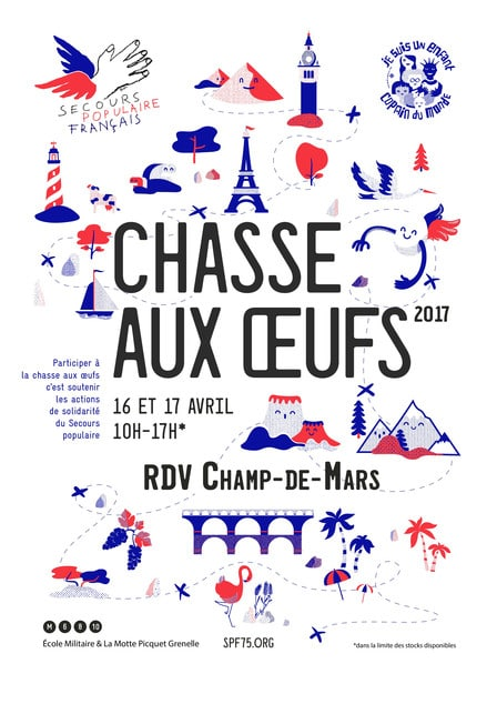 chasse aux oeufs 2017 secours populaires