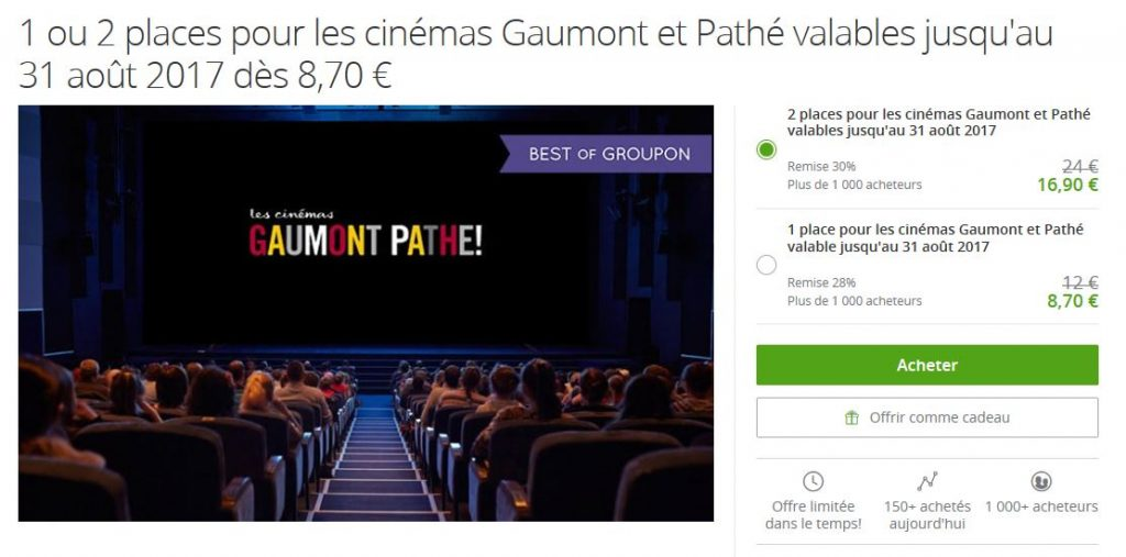Bon plan cinema groupon