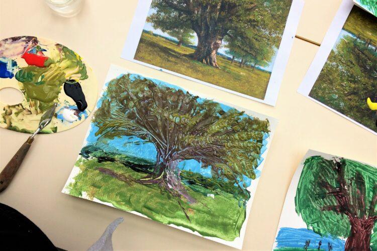 atelier peinture au musee courbet ornans