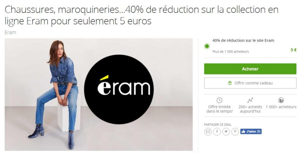 Bon reduction eram groupon