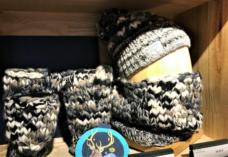 bonnet et gants gros mailles nature et decouvertes