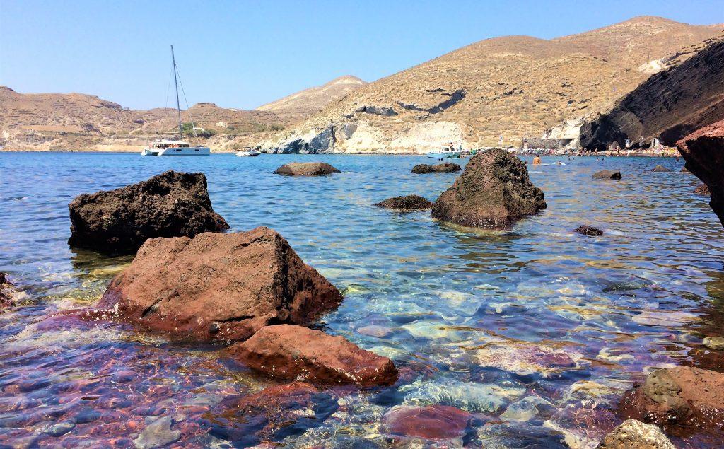 voyage en Grèce santorin akrotiri plage rouge