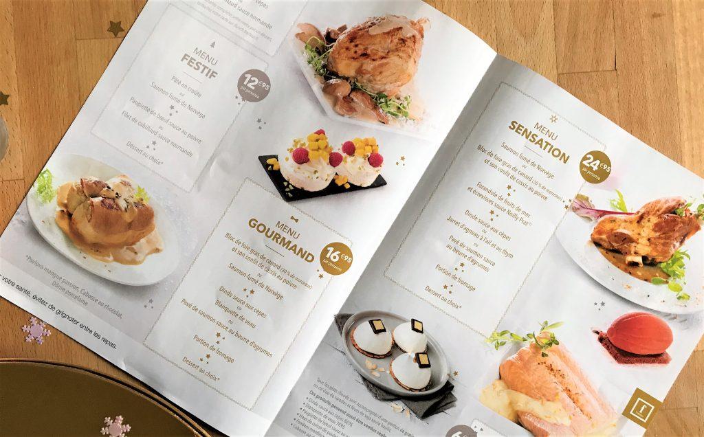 menus repas noel flunch traiteur