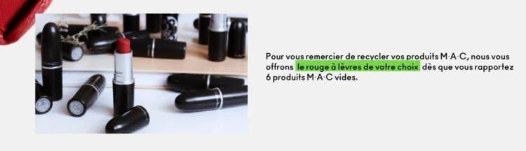 programme recyclage MAC