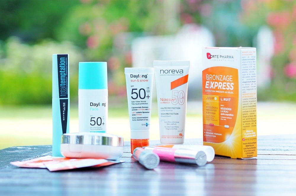 Couverture protections solaires et maquillage soleil 2019