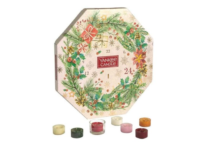 Calendrier avent bougie YANKEE CANDLE couronne 2020