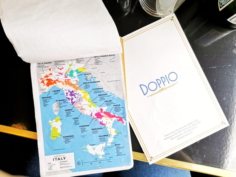 carte des vins italiens doppio