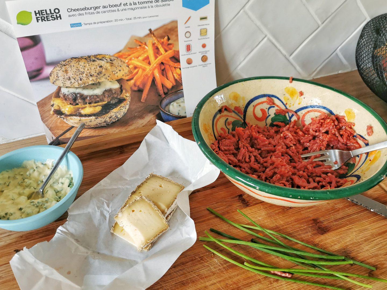 realisation recette cheeseburger maison