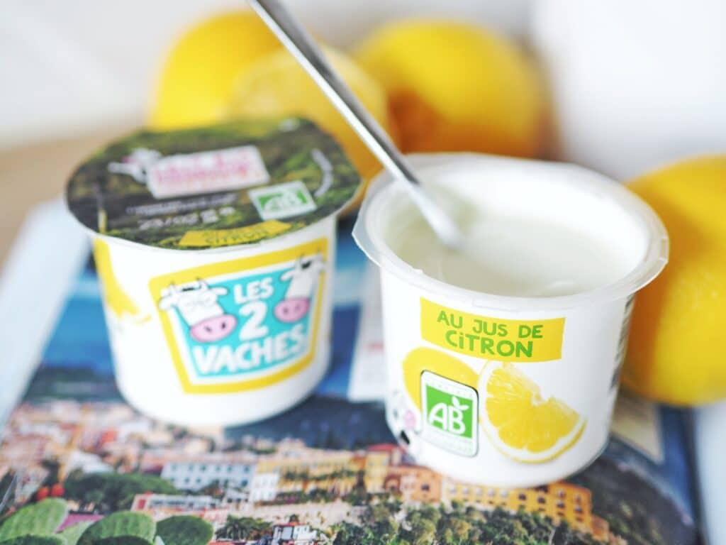 yaourt bio citron les 2 vaches