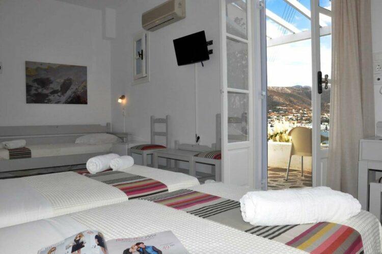 Chambre triple akrotiri hotel paros grece